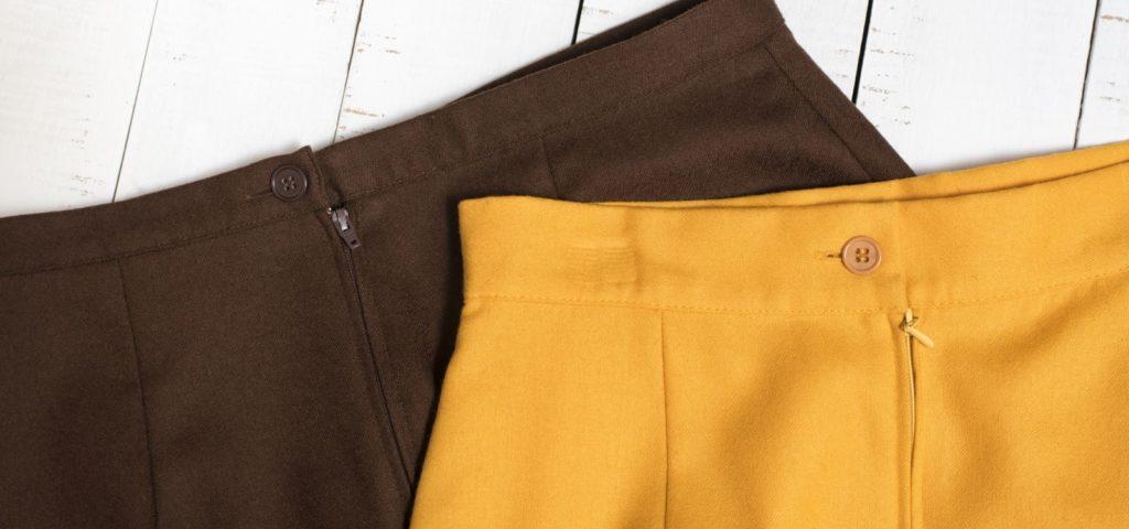 Röcke - braun und gelb